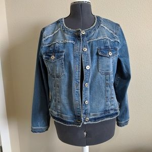 INC gently used Jean jacket.  Size Petite XL. On